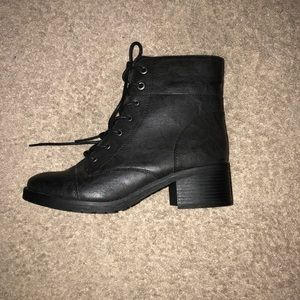 Rampage Kalee Combat Boots Black Women's Shoes
